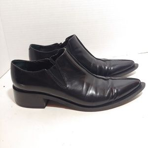 Vic Matie black patent leather ankle boots